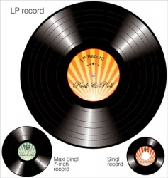 Lp vinyl records vector