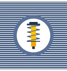 Shock absorber color flat icon vector