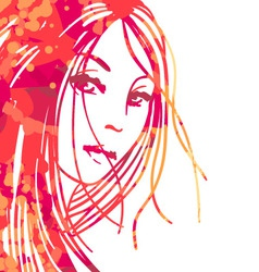 Portrait of beautiful women vector