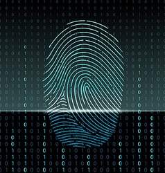 Fingerprint scan vector