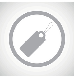 Grey string tag sign icon vector