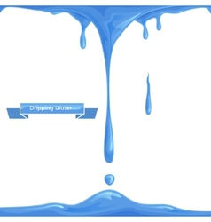 Dripping water vector