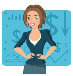 Brown-haired business woman vector