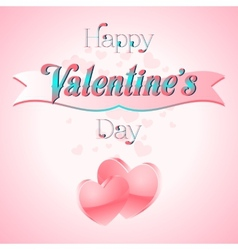 Valentines day lettering card vector