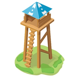 Cartoon tower icon vector