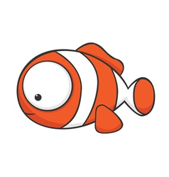 Big eyed clown fish vector