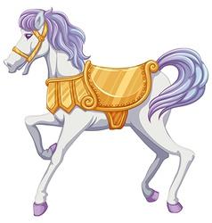 A carrousel horse vector