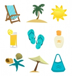 Summer time icon vector