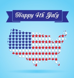4th of july card vector