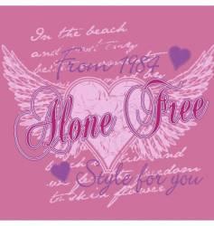 Freedom of love vector