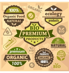 Ecology and bio labels vector