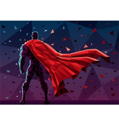 Low poly superhero vector