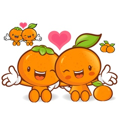 Tangerine and orange couples are welcome to sit vector