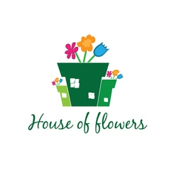 Concept of garden pot with flowers vector