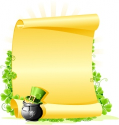 St. patrick's day blank letter vector