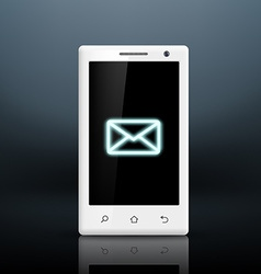 Envelope icon on the screen of your smartphone vector