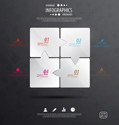 Glass infograph vector