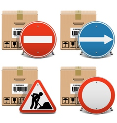 Shipment icons set 23 vector