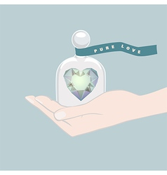 Gift of a heart symbolising pure love vector