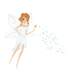 Beautiful fairy with magic wand graphic vector
