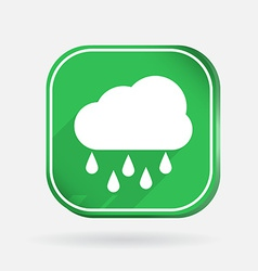 Cloud rain color square icon vector