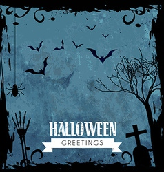 Creepy halloween design vector