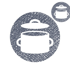 Saucepan pot simple single color icon isolated on vector