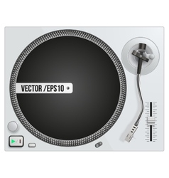 Modern white turntable vector