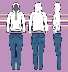 Hoodi and jeans set vector