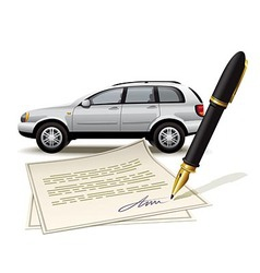Paperwork for car vector