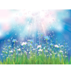 Spring blue flowers vector
