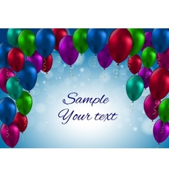 Color glossy balloons card vector