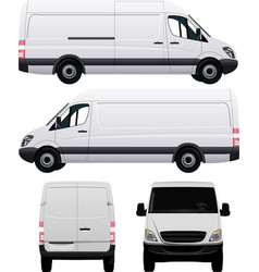 White commercial van vector