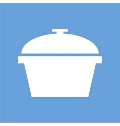 Pan white icon vector