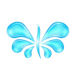 Abstract butterfly stylized water splash drops vector