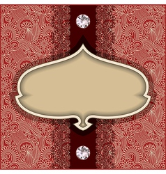 Vintage template with diamond jewel vector
