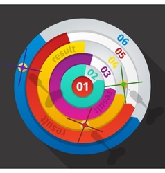 Business target marketing dart idea creative vector
