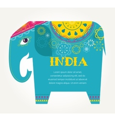 India - background with patterned elephant vector