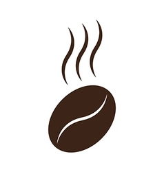 Coffee bean with steam vector