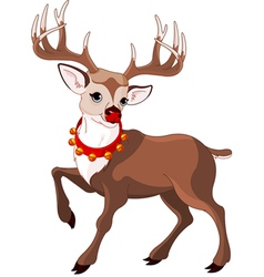 Rudolf the red nosed reindeer vector