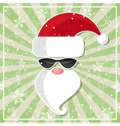 Santa in glasses with dark lenses vector