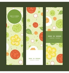 Fresh salad vertical banners set pattern vector