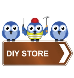 Diy store sign vector