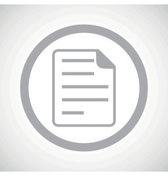 Grey document sign icon vector