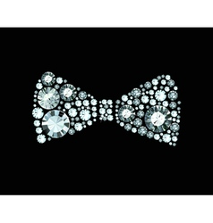 Diamond bow tie vector