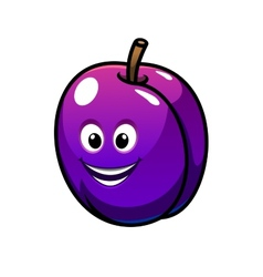 Colorful healthy fresh purple plum fruit vector