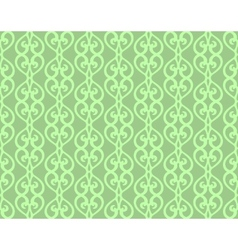 Green vintage forged lacing seamless pattern vector