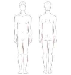 Male silhouette vector
