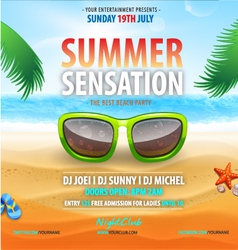 Summer sensation vector