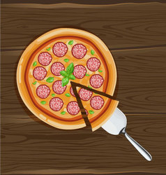 Pizza on board vector